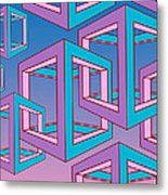 Geometric  Metal Print by Mark Ashkenazi
