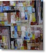 Geometric Modern Painting Original On Canvas Metal Print