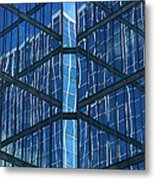 Geometric Reflection Metal Print