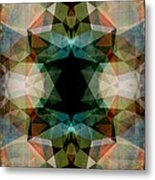 Geometric Textured Abstract  Metal Print