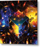 Geometry Amid Chaos Lights Metal Print
