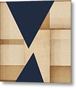Geometry Indigo Number 2 Metal Print by Carol Leigh