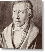 Georg Hegel  Metal Print