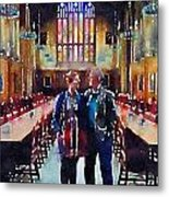 George And Chrissy At Hogwarts Metal Print