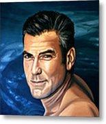George Clooney 2 Metal Print