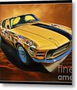 George Follmer 1970 Boss 302 Ford Mustang Metal Print