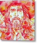George Harrison With Hat Metal Print