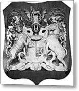 George IIi: Coat Of Arms Metal Print