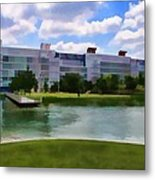 George R Brown Convention Center Metal Print by Audreen Gieger