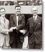 George Sisler Babe Ruth Ty Cobb Metal Print