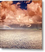George Town-grand Cayman Rainbow After The Storm Metal Print