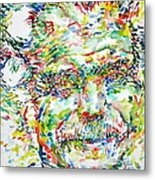 Georges Brassens Portrait Metal Print