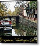 Georgetown Canal Poster Metal Print