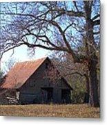 Georgia Barn In Winter Metal Print