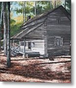 Georgia Cabin In The Woods Metal Print