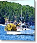 Georgia Madison Lobster Boat Metal Print
