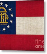 Georgia State Flag Metal Print