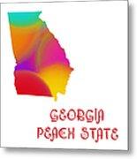 Georgia State Map Collection 2 Metal Print
