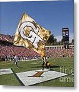 Georgia Tech Touchdown Celebration At Uva Metal Print
