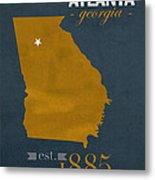 Georgia Tech University Yellow Jackets Atlanta College Town State Map Poster Series No 043 Metal Print