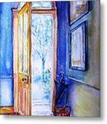 Winter Doorway Ireland    Metal Print