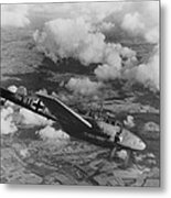 German Airplane Flying Over Poland. Ca Metal Print