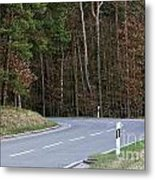 German Country Road Metal Print
