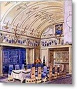 German Dining Hall, Early 20th Century Metal Print