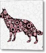 German Shepherd - Animal Art Metal Print