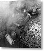 German Soldiers Launch A Suprise Attack On Bunker 17. Metal Print