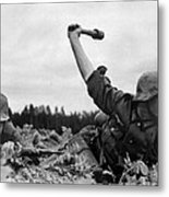 German Troops During The Invasion Metal Print