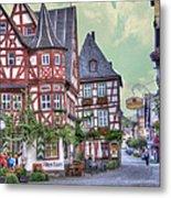 German Village Along Rhine River Metal Print