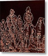 Geronimo And Family Surrendering Collage Number 2 C.s. Fly 1887-2012 Metal Print