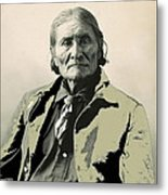 Geronimo As Photographed By A. Rinehart Omaha Nebrasks  1898-2013.  Metal Print