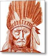 Geronimo Metal Print