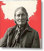 Geronimo Portrait R. Rinehart Photo Omaha Nebraska 1898-2013 Metal Print