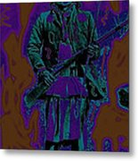 Geronimo With Rifle C.s. Fly Photo 1887-2008 Metal Print