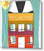 Get Well Card Metal Print by Linda Woods