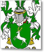 Gethin Coat Of Arms Irish Metal Print