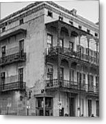Gettin' By In New Orleans Bw Metal Print