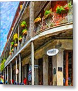 Getting Around The French Quarter - Watercolor Metal Print