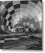 Getting Inflated-bw Metal Print