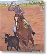 Getting Ready For Rodeo Metal Print