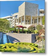 Getty Center Central  Garden Brentwood  Ca Metal Print
