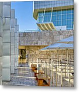 Getty Center Tram Waiting Area Brentwood  Ca Metal Print