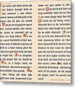 Gettysburg Address Metal Print