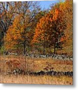 Gettysburg At Rest - Autumn Looking Towards The J. Weikert Farm Metal Print
