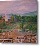 Gettysburg Farm Metal Print