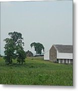Gettysburg First Shot Fired Metal Print
