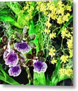 Geyser Jaimie And Golden Fantasy Orchids Metal Print